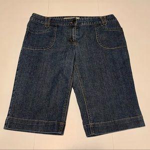 ❗️BOGO❗️Reitmans Long Dark Jean Shorts